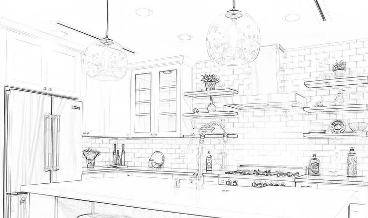 Kitchen Drawing 02